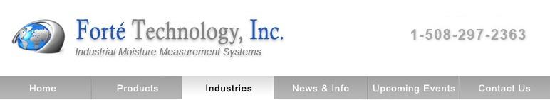 Industrial moisture measurement systems, Forté Technology, Inc